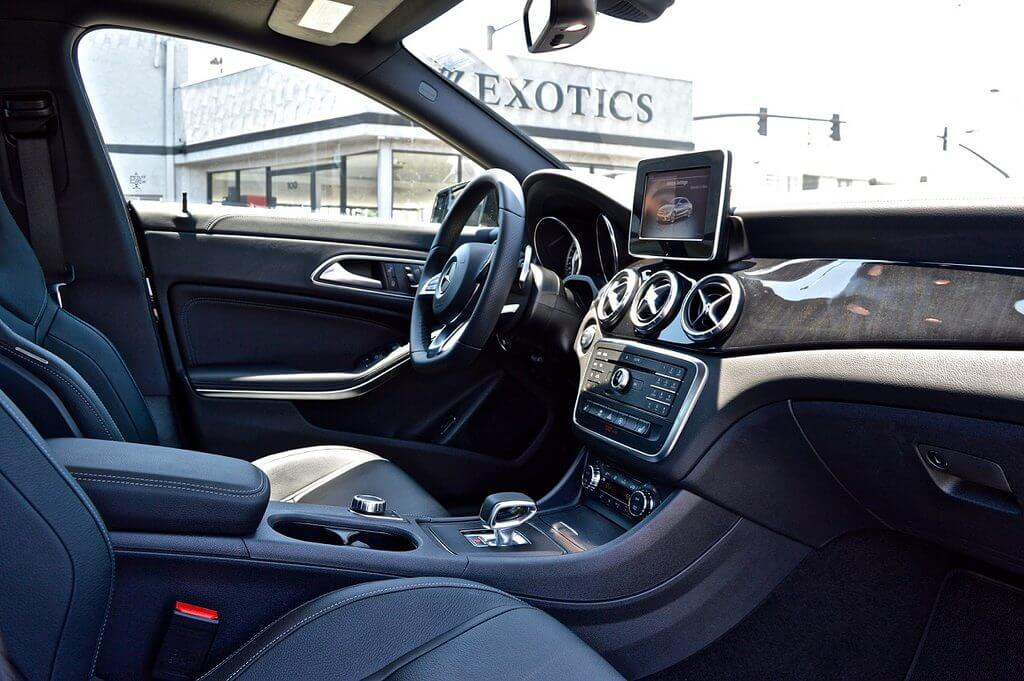 mercedes benz CLA 45 rental interior LA