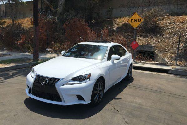 Lexus IS200t F Sport White Rental Los Angeles