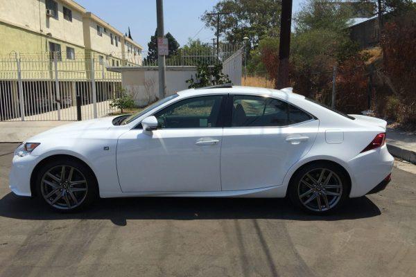 lexus is200t f-sport white rental LA