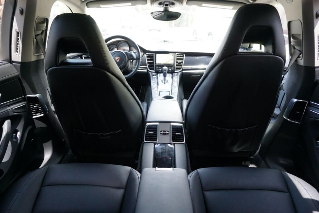 Porsche panamera white interior back la rental