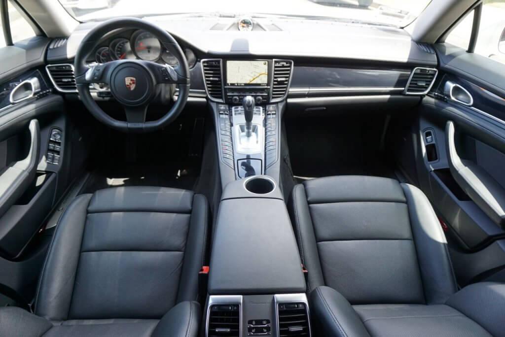 Porsche panamera white interior front la rental