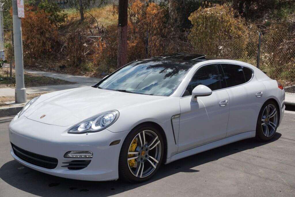 Porsche Panamera White 777 Exotic Car Rental Los Angeles