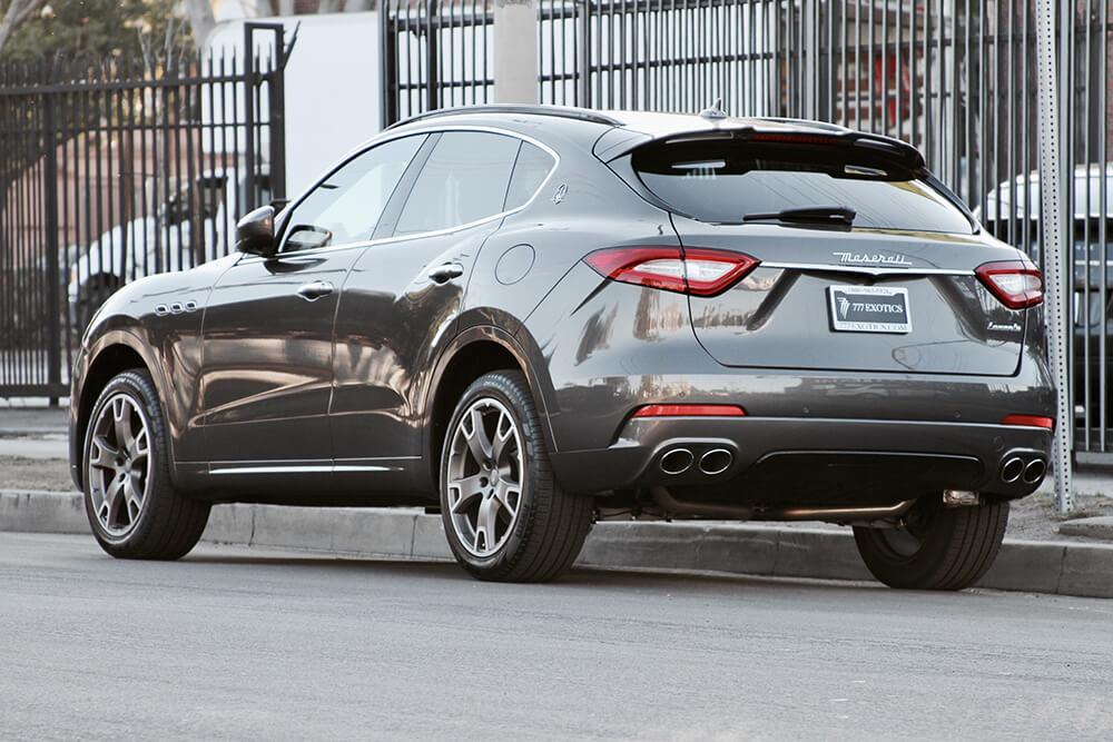 Maserati Levante rental back view LA