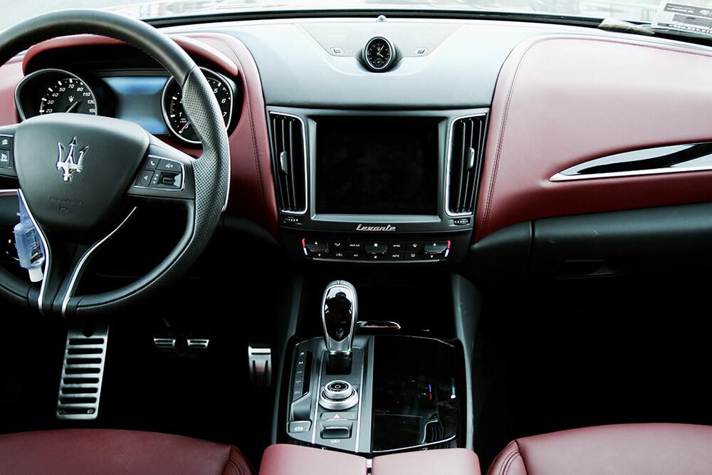 Maserati Levante rental interior LA