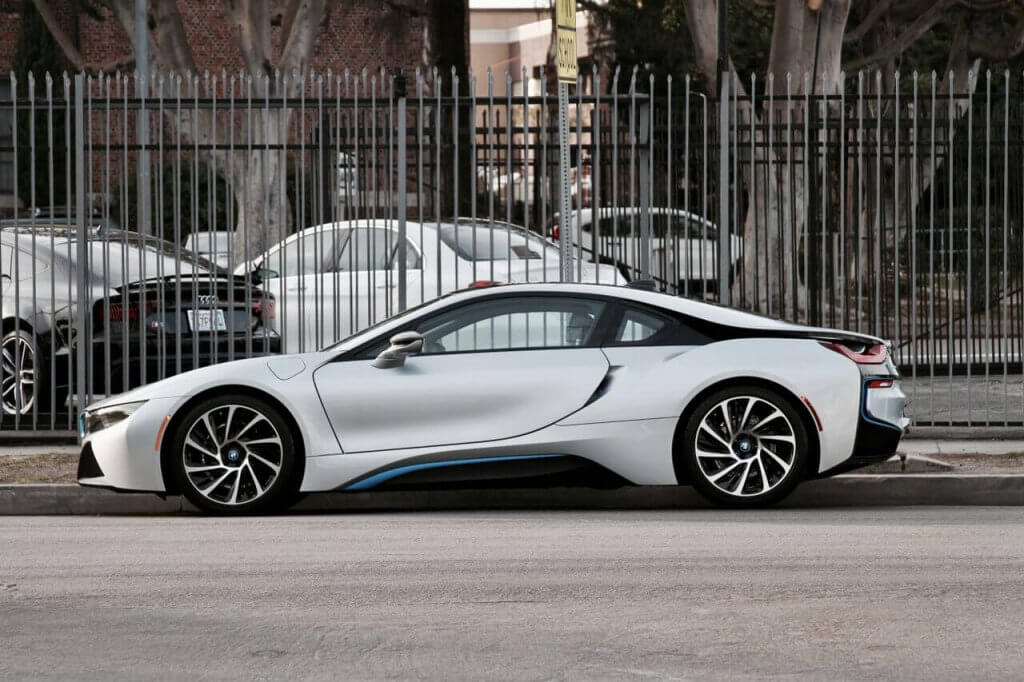 BMW i8 Silver Rental Los Angeles