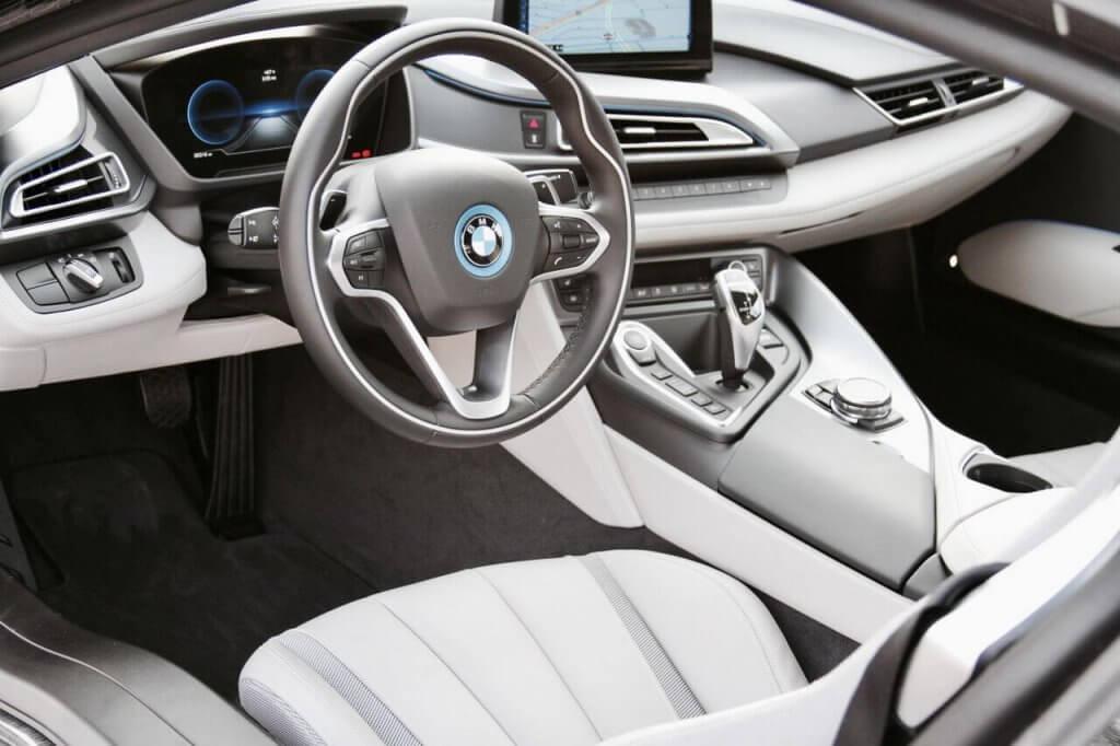 bmw i8 silver interior rental LA