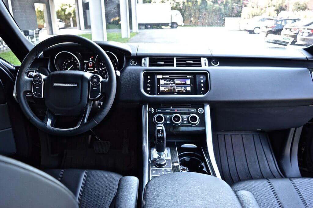 range rover supercharge rental LA interior front