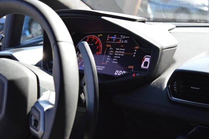 Lamborghini Huracan Grey front interior LA rental