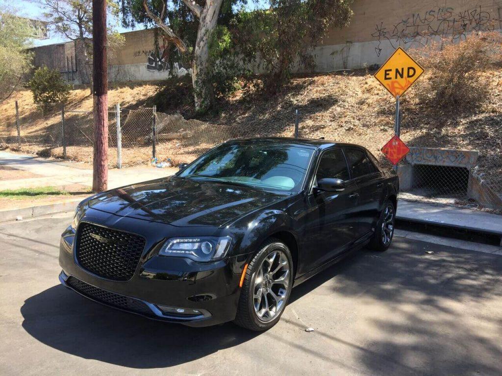 Chrysler 300 S black rental beverly hills
