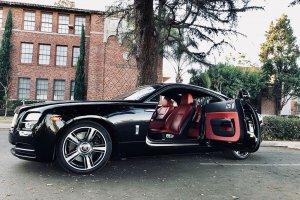 Rolls Royce Wraith Black Rental in Los Angeles Las Vegas