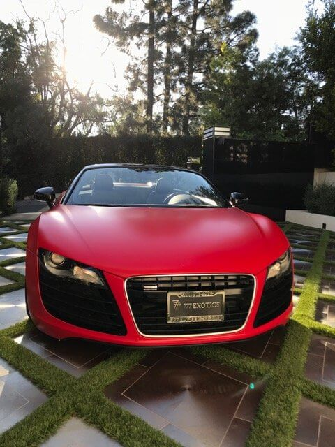 Audi R8 Spyder rental los angels and las vegas