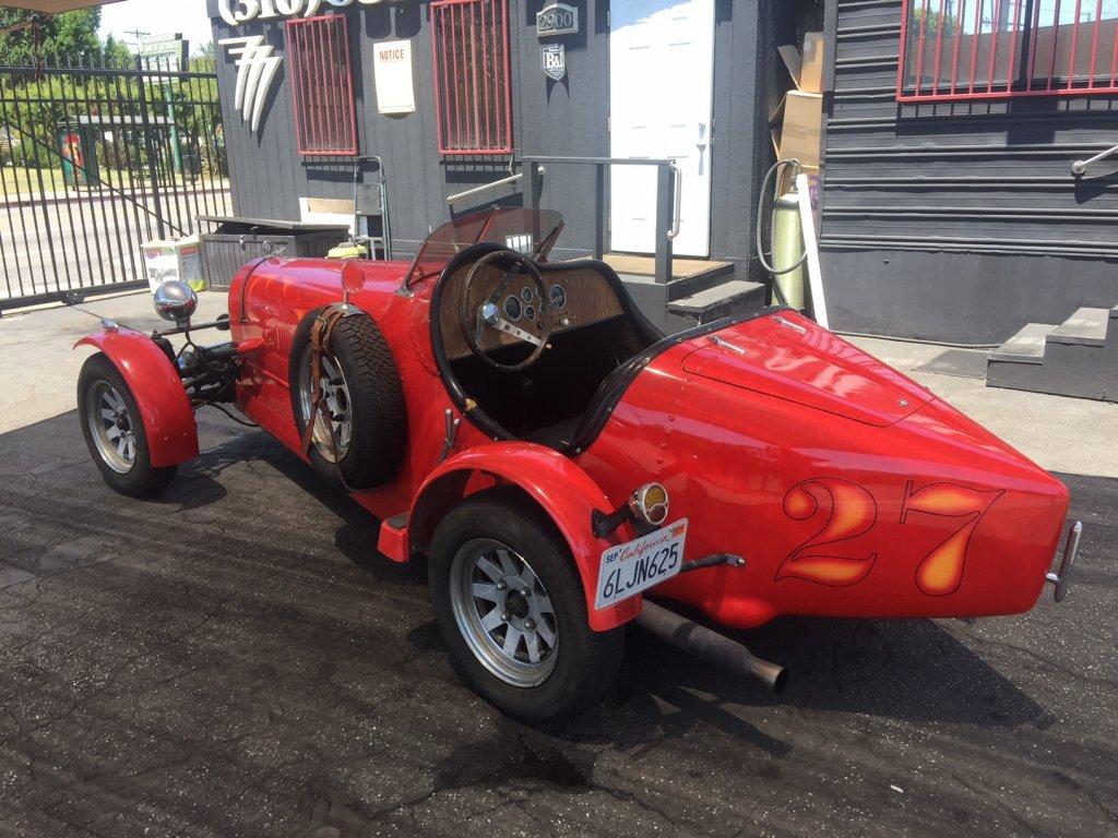 red classic bugatti