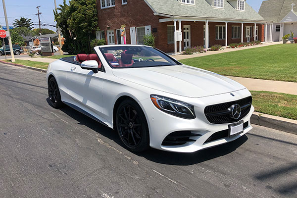 MBZ-S560-front Rent Convertible Cars in Los Angeles