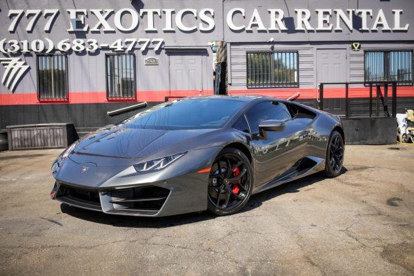 Lamborghini Huracan Charcoal Rental | Exotic Car Rental Los Angeles