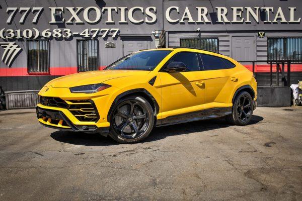 Yellow Lamborghini Urus Rental LAX