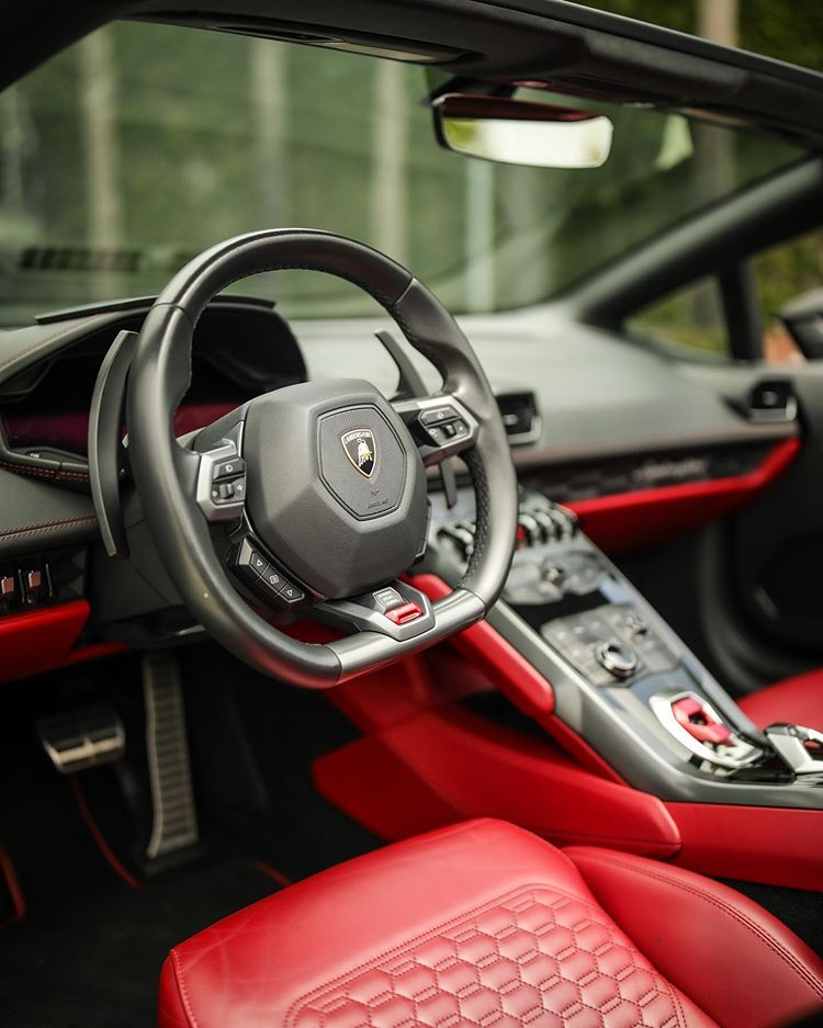 Rent Lamborghini Huracan Spyder Red Interior Los Angeles