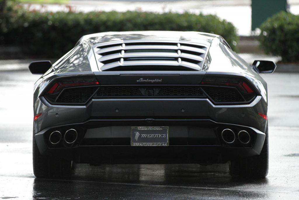 Lamborghini Huracan Rental Charcoal Back