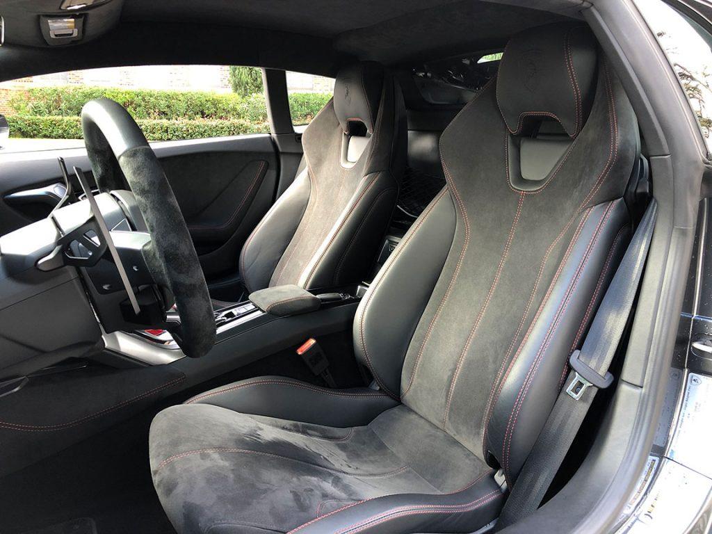 Lamborghini Huracan Rental Charcoal Seat